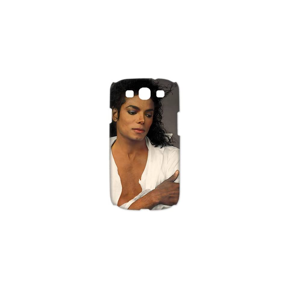 Beautiful Michael Jackson White Shirt case for Samsung Galaxy S3 3D hard cases / Design and made to order / Custom cases