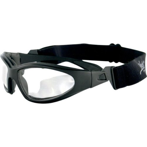 Bobster GXR Adult Convertible Sports Sunglasses - Black/Clear / One Size Fits All