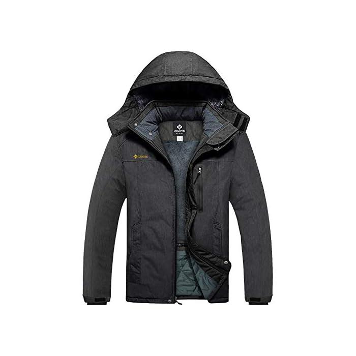 414XX1R1qbL Ocasiones: una chaqueta con aislamiento esencial para viajes al aire libre y esencial, trajes ideales para esquí alpino, snowboard, deportes de nieve, senderismo, montañismo, camping, escalada, ciclismo y otras actividades de invierno al aire libre. Chaqueta para la nieve cálida y duradera: el tejido de la capa exterior es muy duradero y resistente al desgaste, y el forro de vellón suave interior es lo suficientemente grueso para mantenerte abrigado y cómodo durante el frío invierno, pero transpirable. También la costura es reforzada, lo suficientemente sólida como para usarla durante años. Poliéster