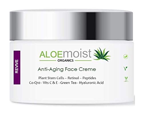 Advanced Anti Aging Face & Eye Cream - Collagen Peptides, Plant Stem Cells, Hyaluronic Acid, Retinol, Vitamin C, E, CoQ10 & More - For Rosacea, Acne, Oily Skin - Reduce Wrinkles, Fine Lines, Age Spots