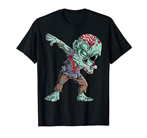 Dabbing Zombie T shirt Halloween Boys Kids Dab Funny Zombies -