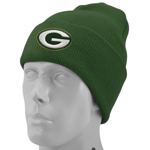 NFL End Zone Cuffed Knit Hat - K010Z, Green Bay Packers, One Size Fits All by Reebok (Image #2)