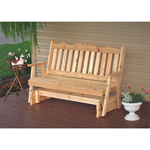 (A & L Furniture Co. Western Red Cedar 4' Royal English Glider - Ships Free in 5-7 Business Days)