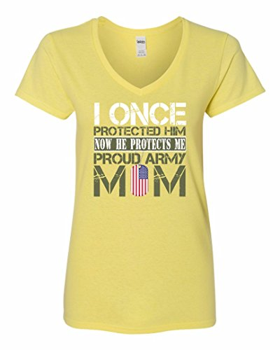 Army Mom Yellow T-shirt - Army Mother's Gift