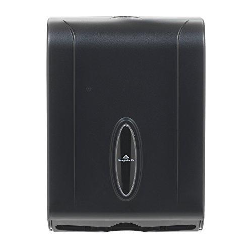 georgia pacific gp 5665001 translucent smoke combination c fold or multifold paper towel dispenser wxdxh 1100 x 525 x 1540 case of 1 dispenser