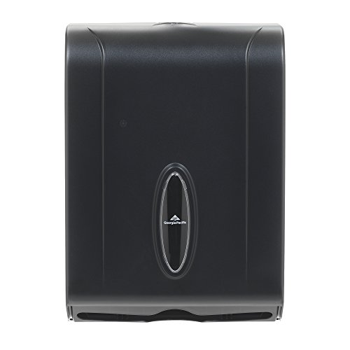 "Georgia-Pacific GP 56650/01 Translucent Smoke Combination C-Fold or Multifold Paper Towel Dispenser, (WxDxH) 11.00"" x 5.25"" x 15.40"" (Case of 1 Dispenser)"