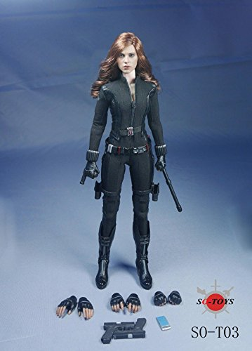 1/6 Scarlett Johansson Black Widow Set Captain America Civil War Version For Hot Toys ()