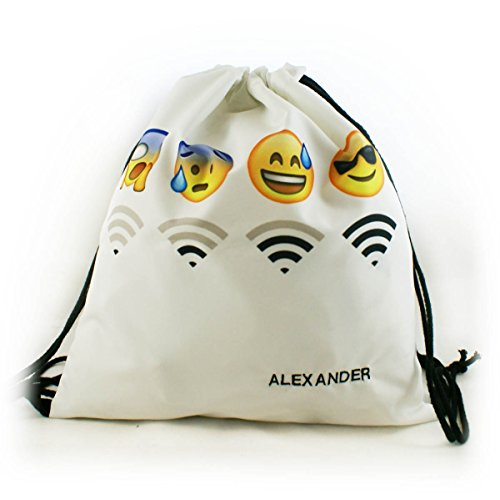Swimming White School Wifi Trees Gym Backpack Bags Fullprint Emoji Sports Bag Cinch Hipster 1qdBpnxSwz