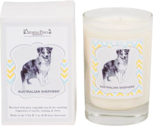 Aroma Paws Breed Candle in Glass with Gift Box, Australian - Australian Glasses