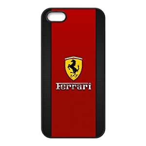 iPhone 5 5s Cell Phone Case Black Ferrari Osxci