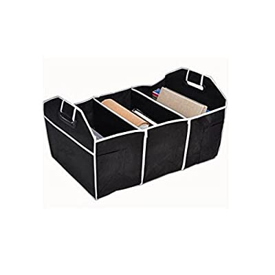 Osierl Black Folding Trunk Organizer Cargo Storage Multipurpose and Collapsible Car Box