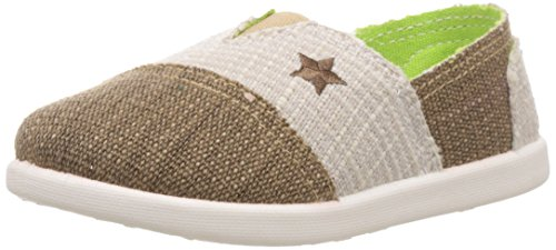 Dew Drops Unisex Kyle Brown Canvas Loafers and Mocassins - 8.5 kids...