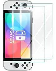 [2 Pack] ZUSLAB Tempered Glass Screen Protector Compatible with Nintendo Switch 2021 OLED Model