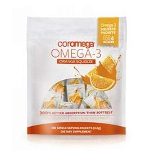 Orange Coromega Flavor - Coromega - Omega-3 Squeeze Orange - 120 Packet(s)