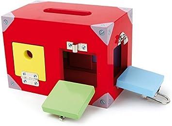 Caja Cerraduras Juego de Motricidad Montessori: Amazon.es: Juguetes y juegos