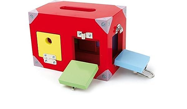 Caja Cerraduras Juego de Motricidad Montessori: Amazon.es ...