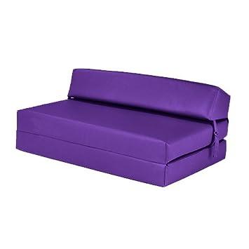 Excellent Black Friday Deal 2017 Purple Faux Leather Double Sofa Bed Folding Mattress Foam Filled Machost Co Dining Chair Design Ideas Machostcouk
