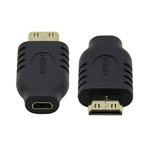 JSER Type D Micro HDMI Socket Female to Type-C Mini HDMI 1.4 Male Convertor Adapter (Mini Hdmi Female To Micro Hdmi Male Adapter)