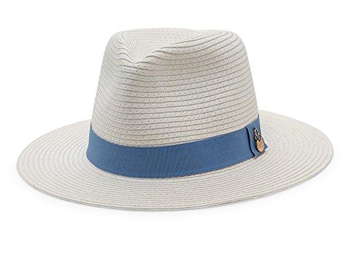 Melissa Odabash Raffia Fedora Hat by Melissa Odabash