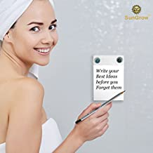 Waterproof Notepad --- Mountable To-do Shower Notebook with Recyclable Paper - Erasable Writing Slate Works with any pen or pencil - Fun pad for Doodling, Drawing in Shower - Suction Cups Included