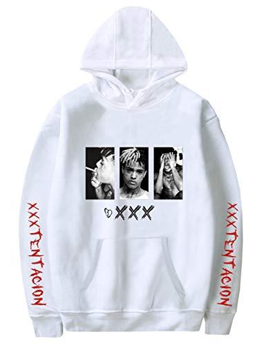Detroital Unisex Hoodie Xxxtentacion Sad Heart Top Cool Rap Graphic Sweatshirt (S, Style01 White) (Unisex Heart)