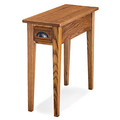 Leick Bin Pull Narrow Side End Table, Candle Glow