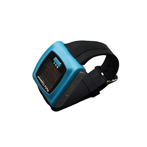 BLYL Muñequera CMS-50F Monitor de Saturación de Oxígeno y Medición de la Frecuencia Cardíaca con Pantalla OLED para la Salud Deporte, Cuidado de la Salud en el Hogar, Azul OXIMETER 8