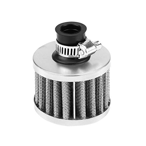 Yuehuam Car Air Filter Intake Vent Valve Cover Breather Fuel Crankcase Universal 13mm Car Cold Air Intake Filter Kit Crankcase Vent Cover Breather Air Intake Filter Car Air - Crankcase Kit