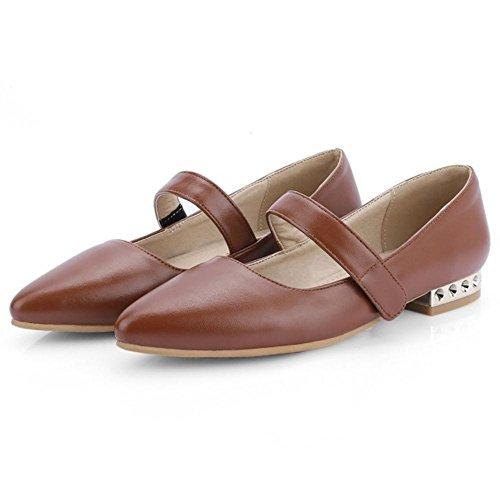 Chaussures Brun Femmes Cour Plat 31 Bout De Pointu Taoffen qt0FA