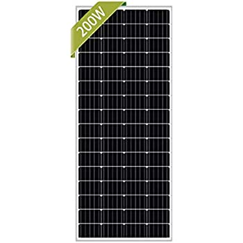 Newpowa 200W Monocrystalline 200 Watt 12V Solar Panel High Efficiency Mono Module RV Marine Boat Off Grid
