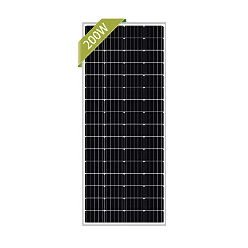 Newpowa 200W Monocrystalline 200 Watt 12V Solar Panel High Efficiency