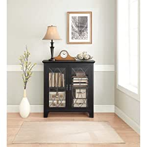 Amazon Com Whalen Dining And Accent Cabinet Black