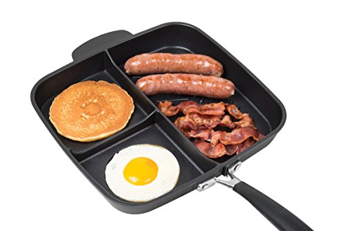 Non-Stick 3 Section Meal Skillet
