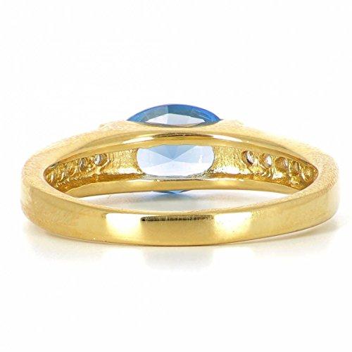 ISADY - Levke Gold - Bague femme - Plaqué Or 750/000 (18 carats) - Oxyde de Zirconium