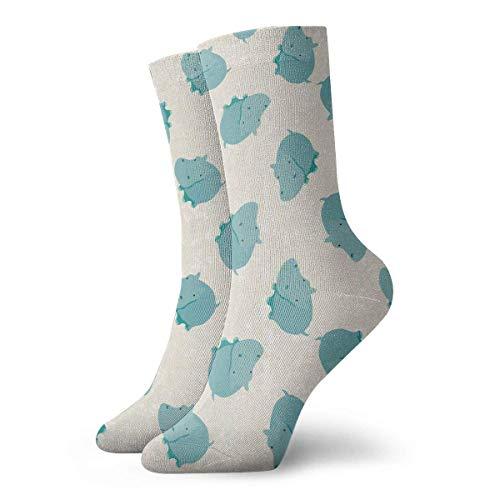 773a89784c1b8 Cute Hippo Unisex Funny Art 3D Print Casual Crew Socks Athletic Crew Socks
