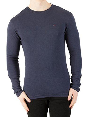 Tommy Jeans Men's Longsleeved Slim Fit T-Shirt, Blue, Large