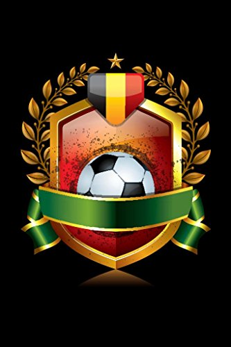 Icon Poster - Belgium Soccer Icon with Laurel Wreath Sports Poster 24x36 inch