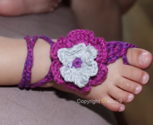 UPC 600157001983, Baby Handmade Crochet Barefoot Sandals Shoes