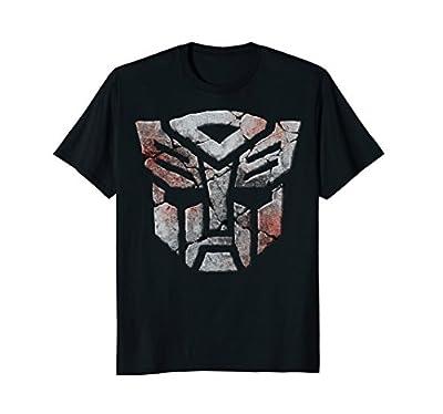 Transformer Distressed Robot Logo T-Shirt