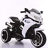 Dorsa Rechargeable Electric BMW 1200GS Style Sports Motor Bike Ride On for Kids with Lights and Music, White