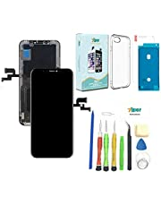 Screen Replacement for iPhone Xs 5.8 inch (Model A1920, A2097, A2098,A2099, A2100) Touch Screen Complete Repair kit - Digitizer Display Glass Replacement with Repair Tools, Waterproof Adhesive,Tempered Glass