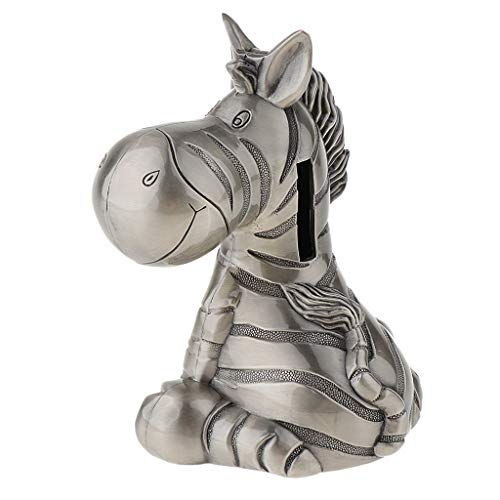 SM SunniMix Lovely Cartoon Zebra Piggy Bank Coins Storage Box Saving Pot for Desktop Ornament Home Decor
