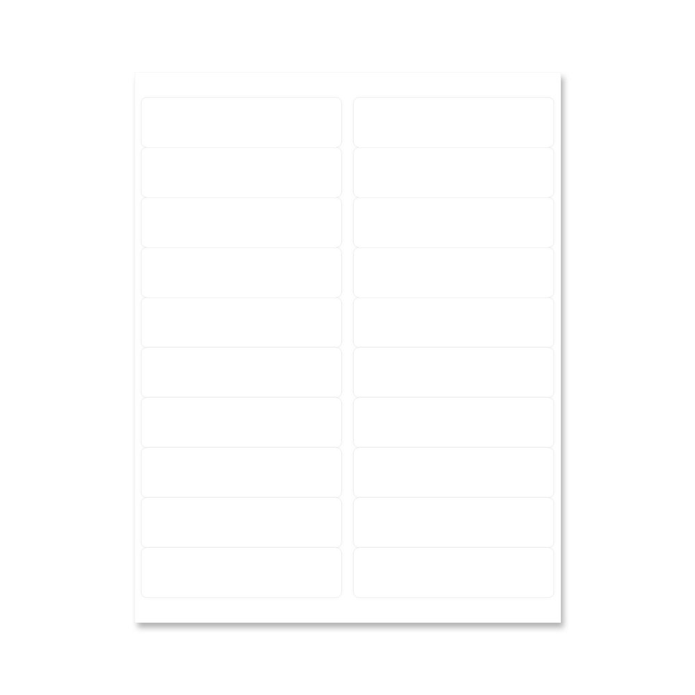PDC Healthcare LSB14 Chart Labels Laser, Portrait, 4'' x 1'', 20 Labels per Sheet, White, 4 Packs of 250 Sheets per Case (Pack of 1000)