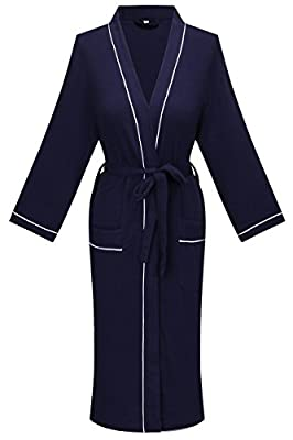 Yukata Waffle Cotton Unisex Kimono Robe Knit Spa Bathrobe Sleepwear