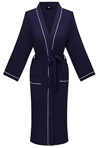 DandyChic Women's Cotton Robe, Lightweight Woven Bathrobe,kimono robe