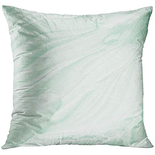 Throw Pillow Cover White Cosmetic Abstract of Green Mint Toothpaste Dried Creamy Meringue Decorative Pillow Case Home Decor Square 18x18 Inches Pillowcase