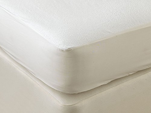 E4Emporium Mattress Protector Fitted, Terry Towelling Top, Waterproof, Crinkle Free, Non- Noise, Anti-allergy, Anti-Microbial - 4 FEET BED