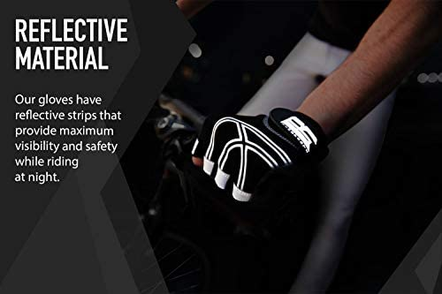 RIMSports Cycling Gloves with Gel Padded Shock-Absorbing Anti-Slip Mountain Bike