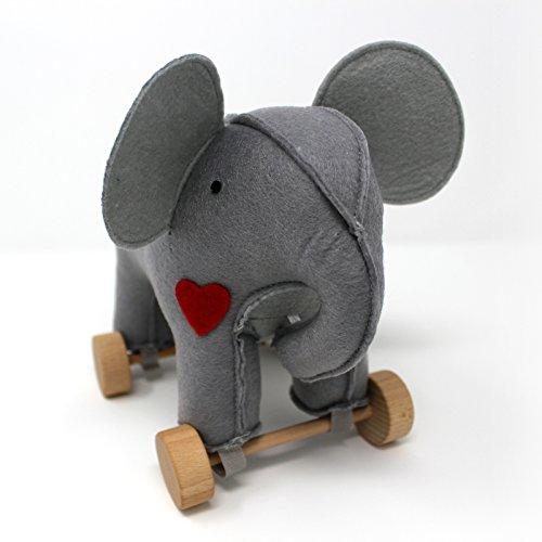Jack Rabbit Creations  Felt Rolling Toy Elephant