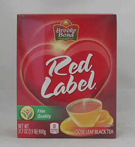 (Brooke Bond Red Label Loose Leaf Black Tea, 31.7 Ounce(1.9 Pound) 900 Gram - Unilever)